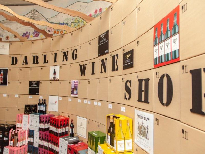 Darling Wines name on the wall