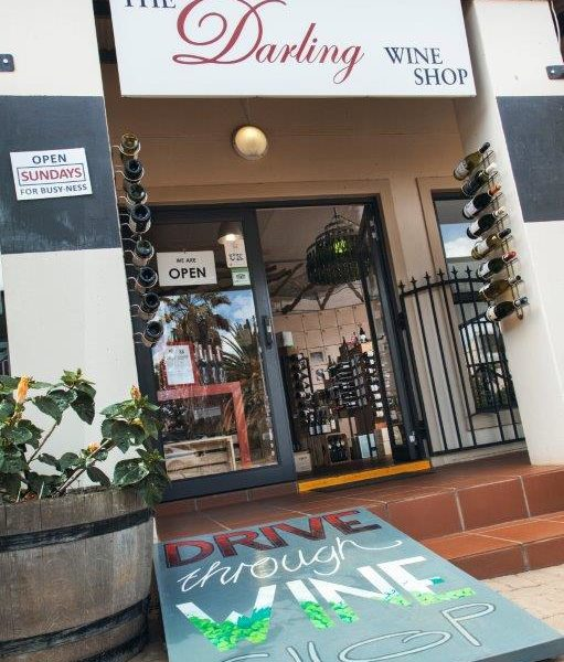 Darling Wines shop entrance